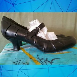 Franco Sarto Black Leather Mary Janes